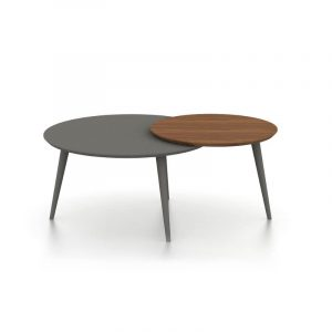 Logan Walnut And Grey Coffee Table