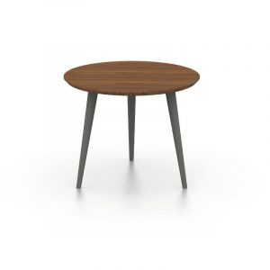 Logan Walnut and Slate Grey End Table