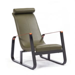 Nova Lounge Chair In Moss PU