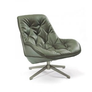 Buster Lounge Chair In Moss